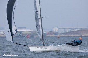Clive racing hisRS100 dinghy